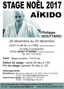 Stage Noël St Etienne Ph. Gouttard Shihan @ JUDO CLUB DE LA LOIRE | Saint-Étienne | Auvergne-Rhône-Alpes | France